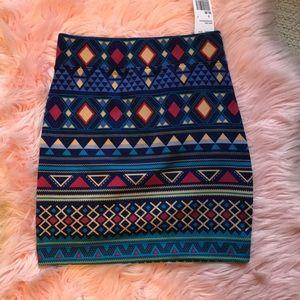 Brand new forever 21 tribal skirt!